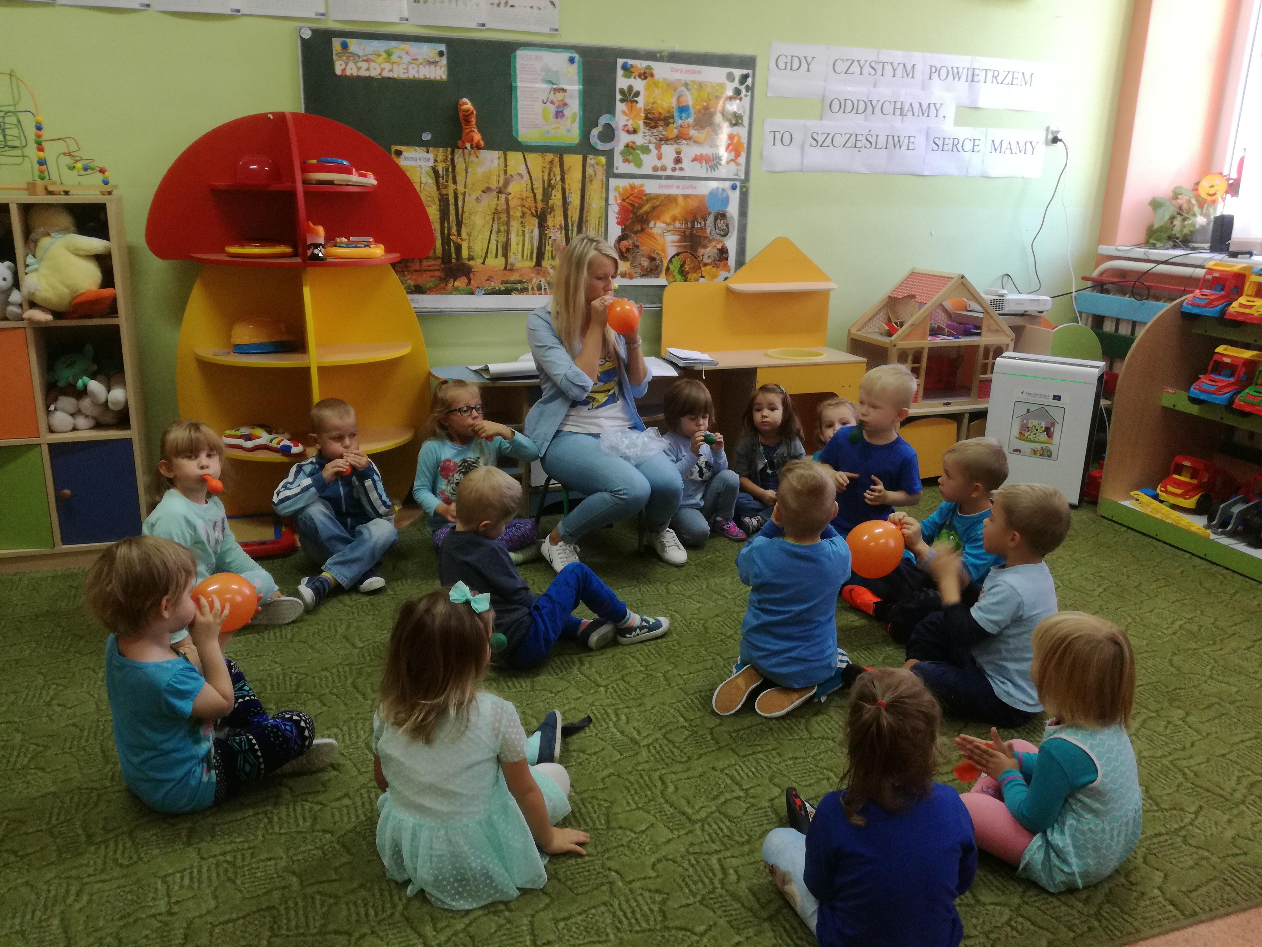 Oczyszczacz powietrza w Oddziale Przedszkolnym