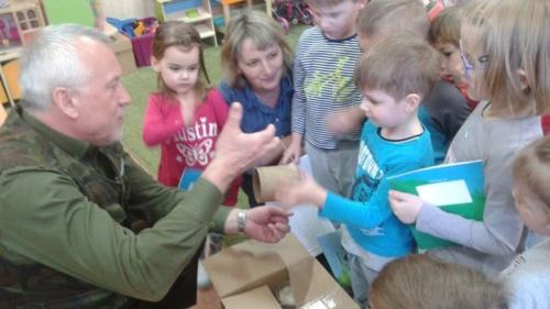 Spotkanie z leśniczym w oddziale przedszkolnym